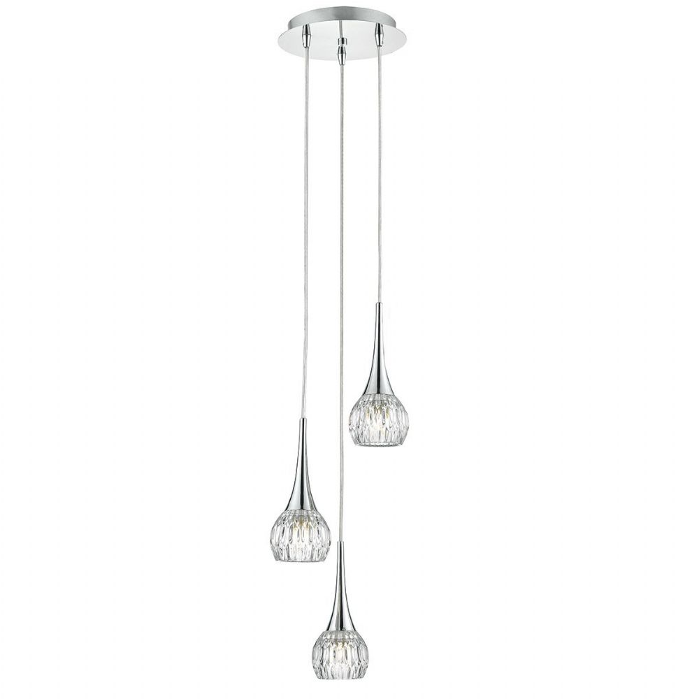 Lyall 3 Light Pendant Polished Chrome (Class 2 Double Insulated) BXLYA0350-17